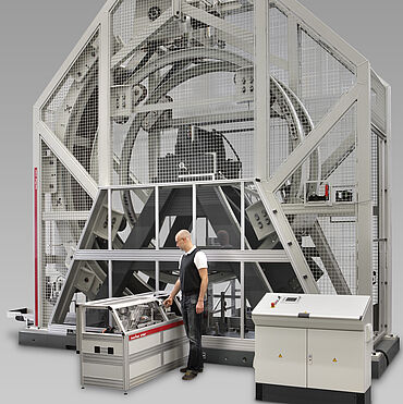 Pendulum impact tester with safety housing and safety technology from ZwickRoell