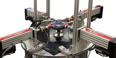 ZwickRoell testing system for triaxial applications