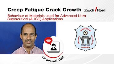 Lecture - Creep Fatigue Crack Growth Behaviour