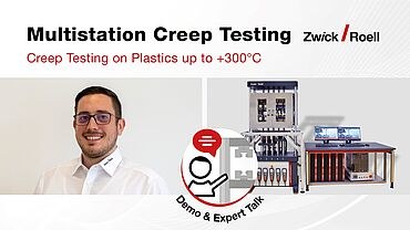 Demonstration - Multistation Creep Testing on Plastics up to +300°C