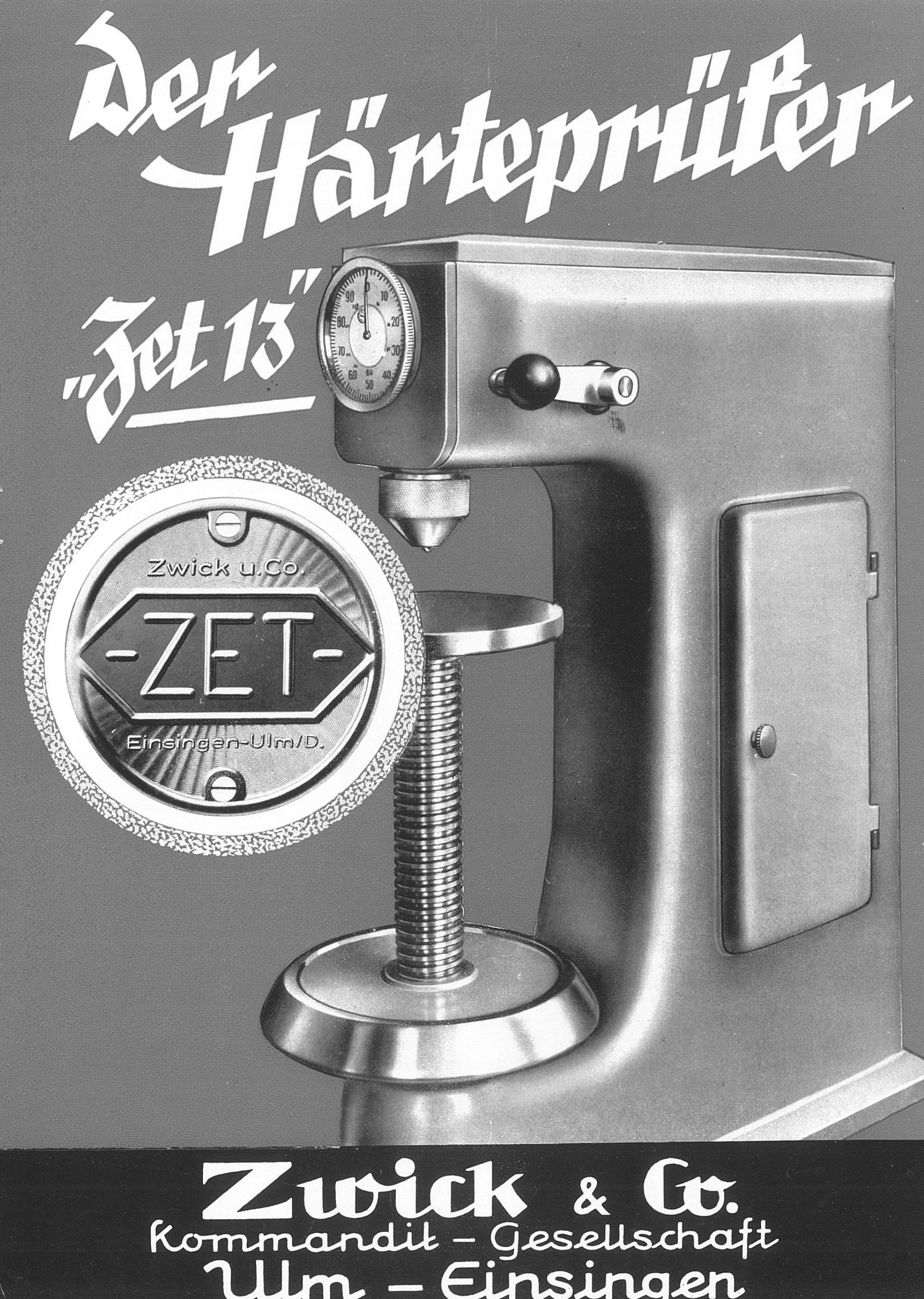 1950s hardness tester from Zwick