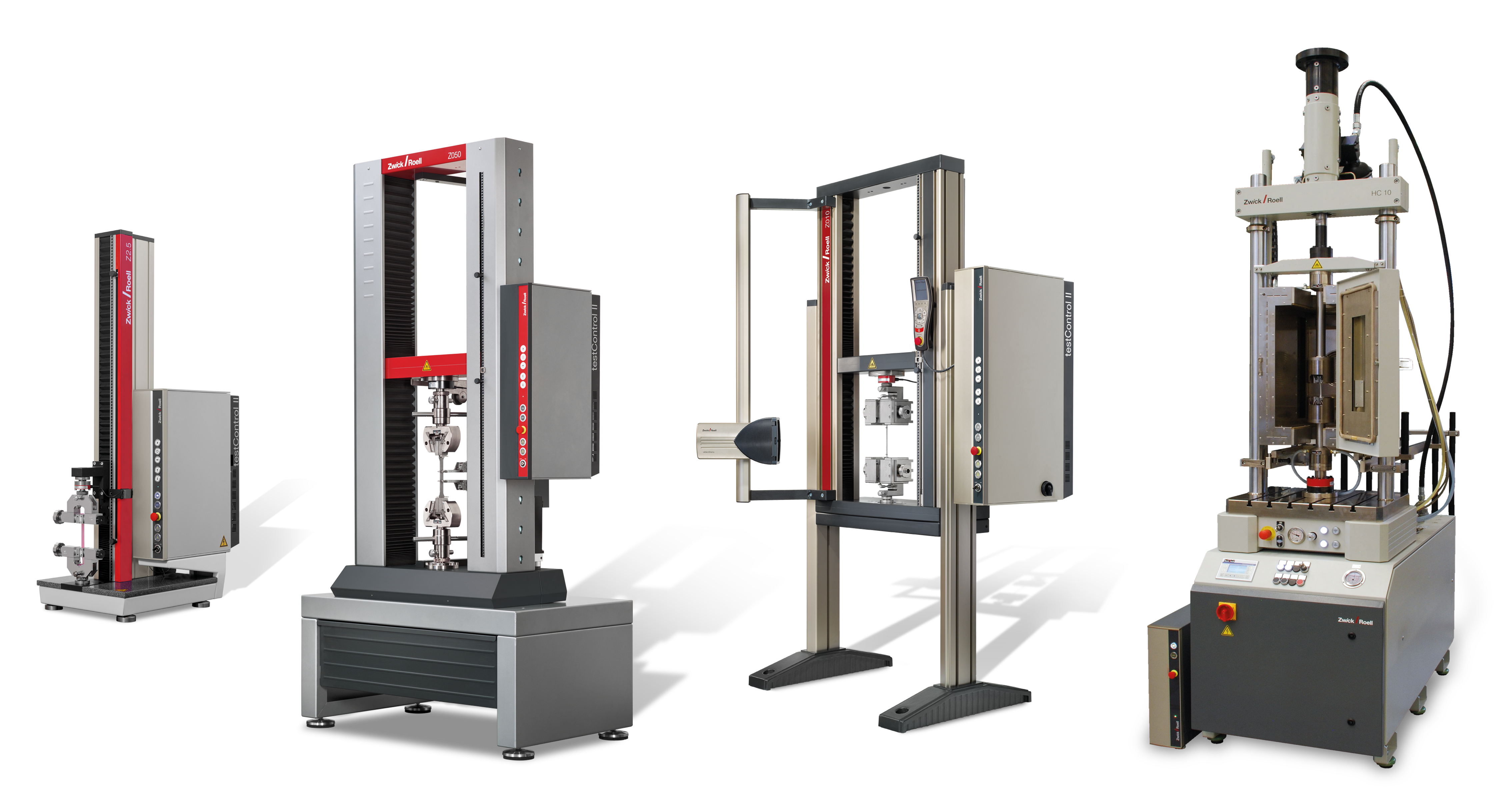 Static and dynamic materials testing machines