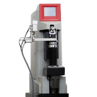 The Vickers hardness testing instrument is integrated in the robotic testing system