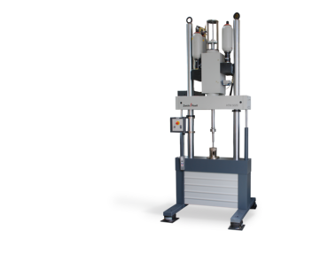 High-speed testing machine for high-speed tensile tests