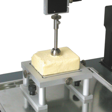 Indenter for determining hardness of food products