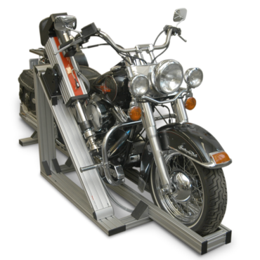 Mounting of an electromechanical testing actuator on a Harley